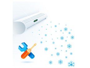 air conditioners fun service element white blue vector 1663325